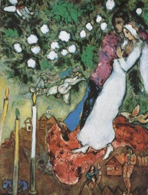 Chagall, Marc The Three Candles (1)