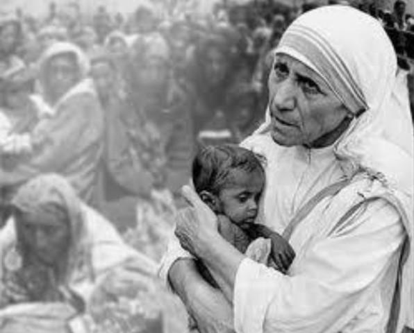 Madre Teresa fra i lebbrosi