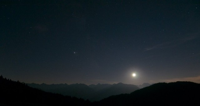 notte sulla collina