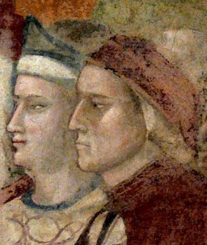 Dante-Brunetto_Bargello-Fresko