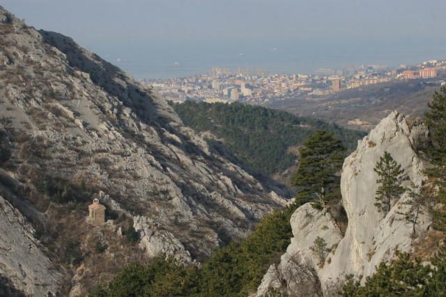 Trieste dalla Val Rosandra